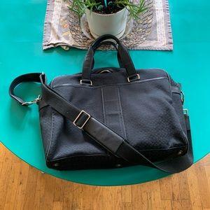 Lightly used black logo'd Coach laptop bag